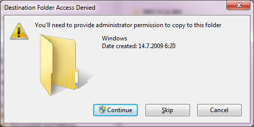 You'll need to provide administrator permission to copy to this folder.